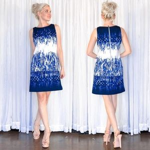 Vince Camuto Blue White Pattern Sundress
